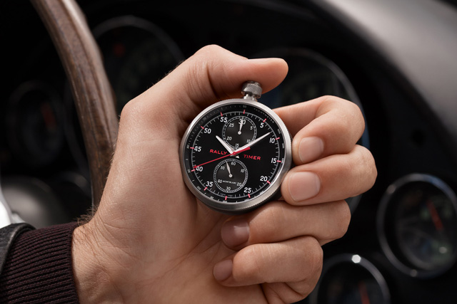 The Montblanc TimeWalker Rally Timer Chronograph Limited Edition can be used in four different ways, including a wristwatch, pocket watch, desk clock or mounted on the dashboard